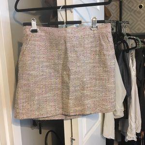 J crew tweed mini skirt size 8